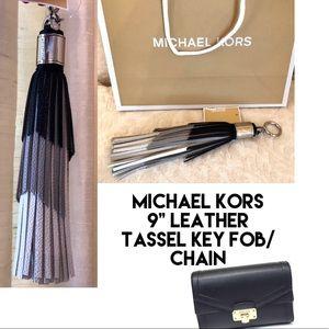 MICHAEL KORS Key Chain Bag Tassel- Genuine Leather